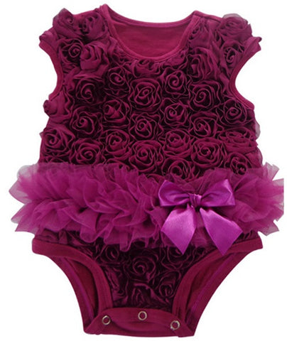 Popatu Baby Tutu Bodysuit Grape Soutache - Popatu pageant and easter petti dress