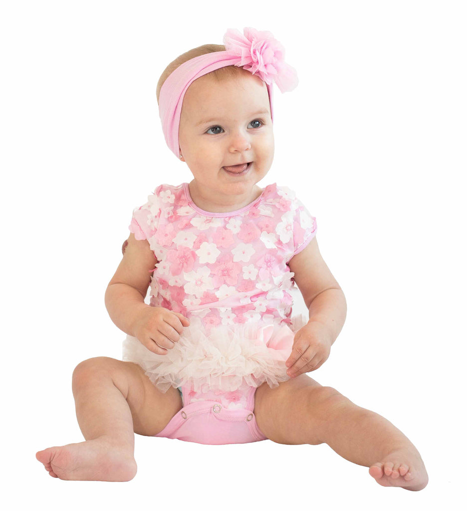 Popatu Mix Flower Tutu Bodysuit - Popatu pageant and easter petti dress