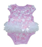 Popatu Baby Tutu Bodysuit Pink Mix Daisy Flowers - Popatu pageant and easter petti dress