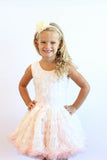 Popatu Little Girls Flower Ruffle Dress - Popatu pageant and easter petti dress