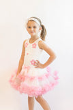 Popatu Little Girls Pink Daisy Petti Dress - Popatu pageant and easter petti dress