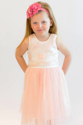 Popatu Little Girls Special Flower Tulle Dress - Popatu pageant and easter petti dress