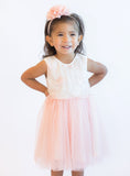 Popatu Baby Girls Special Flower Tulle Dress - Popatu pageant and easter petti dress