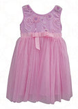 Popatu Baby Tulle Dress Pink Tulle - Popatu pageant and easter petti dress