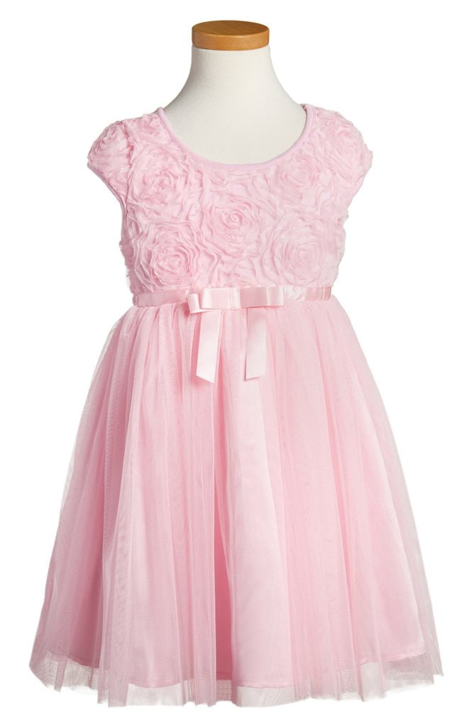 Popatu Ribbon Rosette Tulle Dress - Popatu pageant and easter petti dress