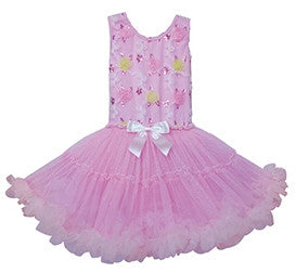 Girls Flower and Sequins Petti Dress - Popatu pageant and easter petti dress