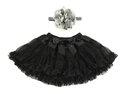 Popatu Baby Black Petti Skirt - Popatu pageant and easter petti dress