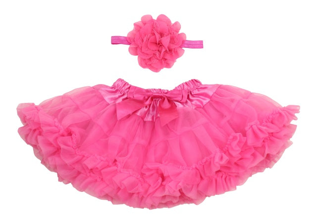 Popatu Baby HotPink Petti Skirt - Popatu pageant and easter petti dress