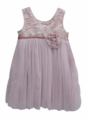 Popatu Baby Dress Dusty Pink Special - Popatu pageant and easter petti dress