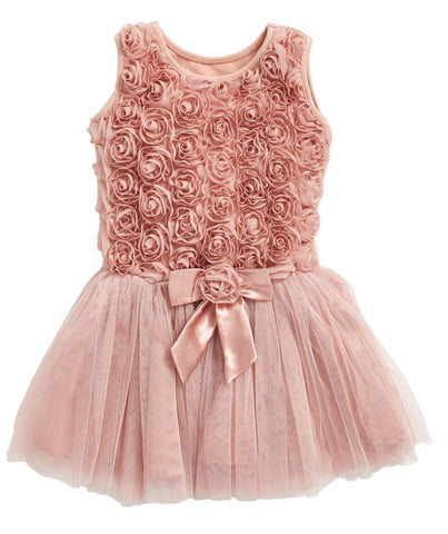 Popatu Baby Tulle Dress Dusty Pink - Popatu pageant and easter petti dress