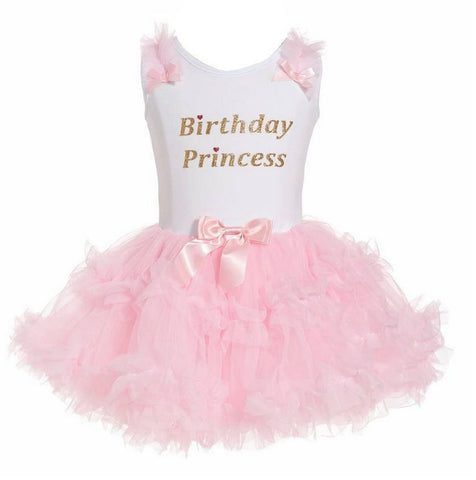 Popatu Little Girls Birthday Princess Ruffle Dress - Popatu