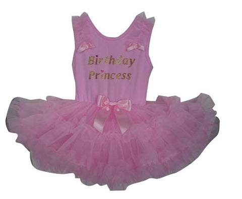 Popatu Pink Birthday Princess Ruffle Dress - Popatu pageant and easter petti dress