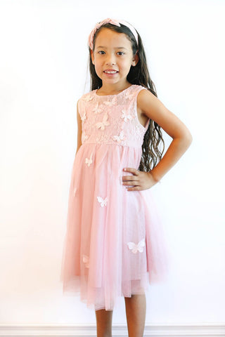 Popatu Baby Butterfly Tulle Dress - Popatu pageant and easter petti dress