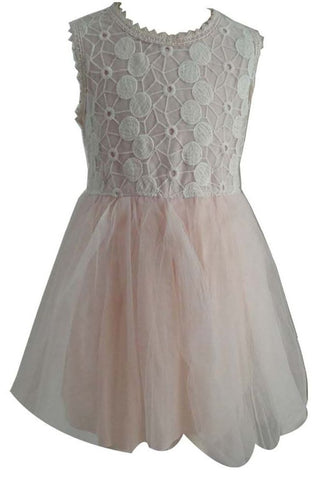 Popatu Baby Light Pink Tulle Dress - Popatu pageant and easter petti dress