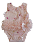 Baby Girl Embroidered Ruffle Bodysuit