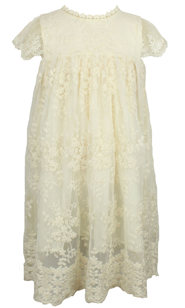 Popatu Ivory Lace Dress - Popatu pageant and easter petti dress