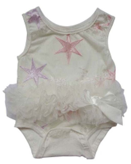 Popatu Baby Tutu Bodysuit Star Embroidered - Popatu pageant and easter petti dress