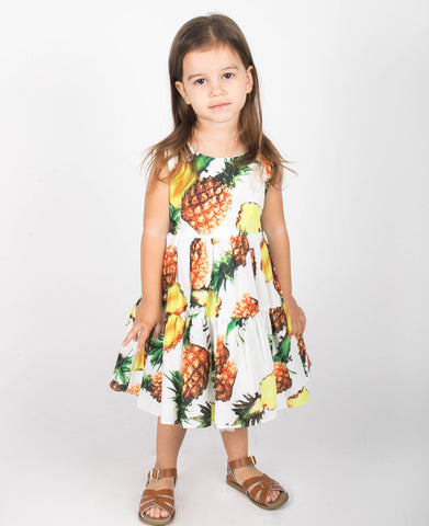 Popatu Little Girls Pineapple Dress - Popatu pageant and easter petti dress