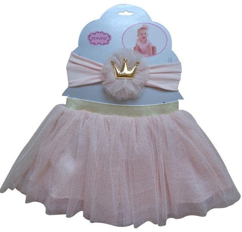 Pink Dress-Up Tutu/Headband Set - Popatu pageant and easter petti dress