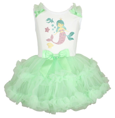 Popatu Baby Girls Mermaid Ruffle Dress - Popatu pageant and easter petti dress