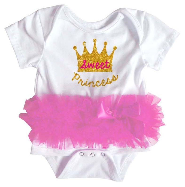 Popatu Baby Tutu Bodysuit Sweet Princess - Popatu pageant and easter petti dress