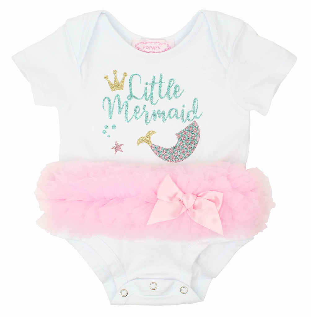 Popatu Baby Tutu Bodysuit Little Mermaid - Popatu pageant and easter petti dress