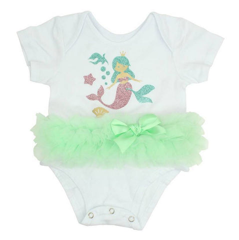 Popatu Baby Tutu Bodysuit Mermaid - Popatu pageant and easter petti dress