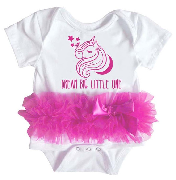 Popatu Baby Tutu Bodysuit Dream Unicorn - Popatu pageant and easter petti dress