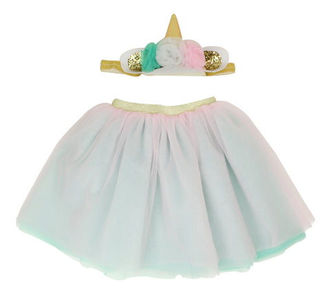 Unicorn Tutu and Headband Set - Popatu pageant and easter petti dress