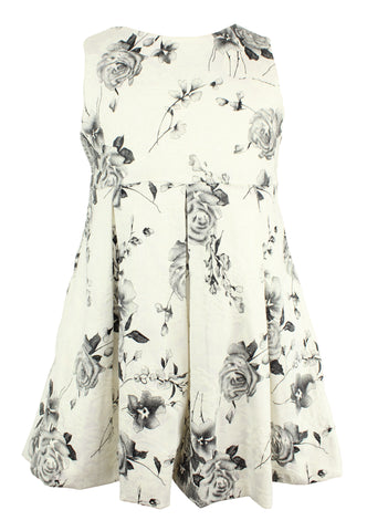 White and Black Flower Dress