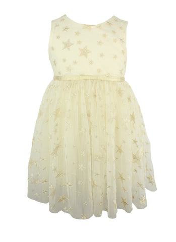 Star Embroidered Dress - Popatu pageant and easter petti dress