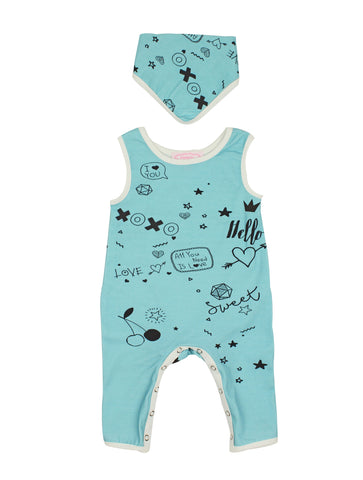 Aqua Blue Baby Bodysuit - Popatu pageant and easter petti dress