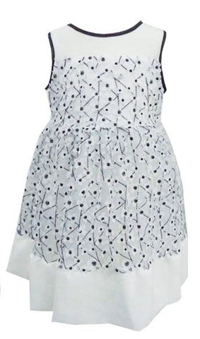 Popatu Baby Girls Black & White Dress