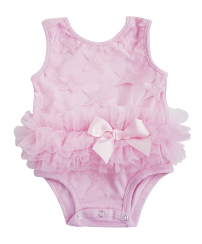 Popatu Pink Star Bodysuit - Popatu pageant and easter petti dress