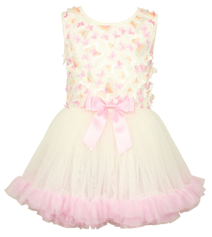 Popatu Little Girls Butterfly Petti Dress - Popatu pageant and easter petti dress