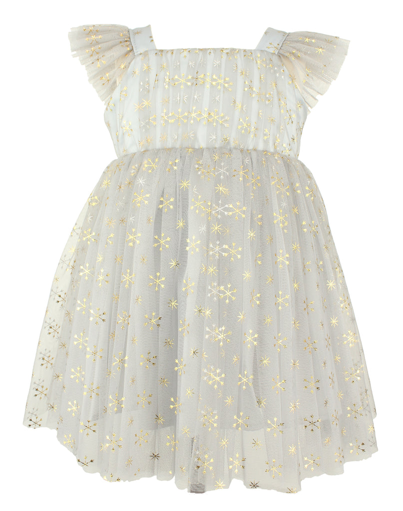 Popatu Baby Girls Silver Tulle Dress - Popatu pageant and easter petti dress