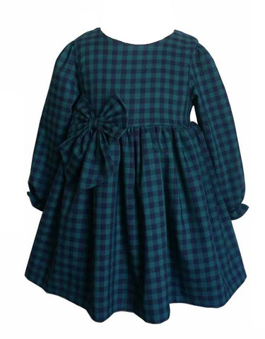 Popatu Baby Girls Long Sleeve Dress - Popatu pageant and easter petti dress