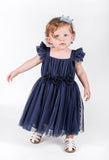 Popatu Navy Blue Tulle Dress - Popatu pageant and easter petti dress