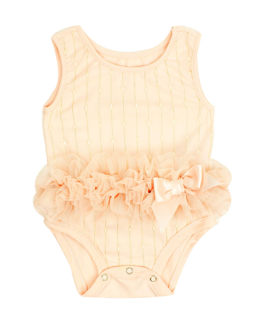 Popatu Baby Ruffle Bodysuit - Popatu pageant and easter petti dress