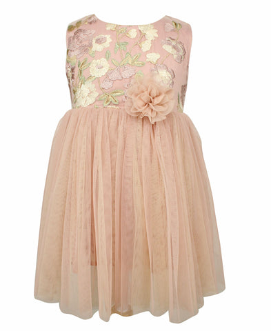 Blossom Embroidered Tulle Dress - Popatu pageant and easter petti dress