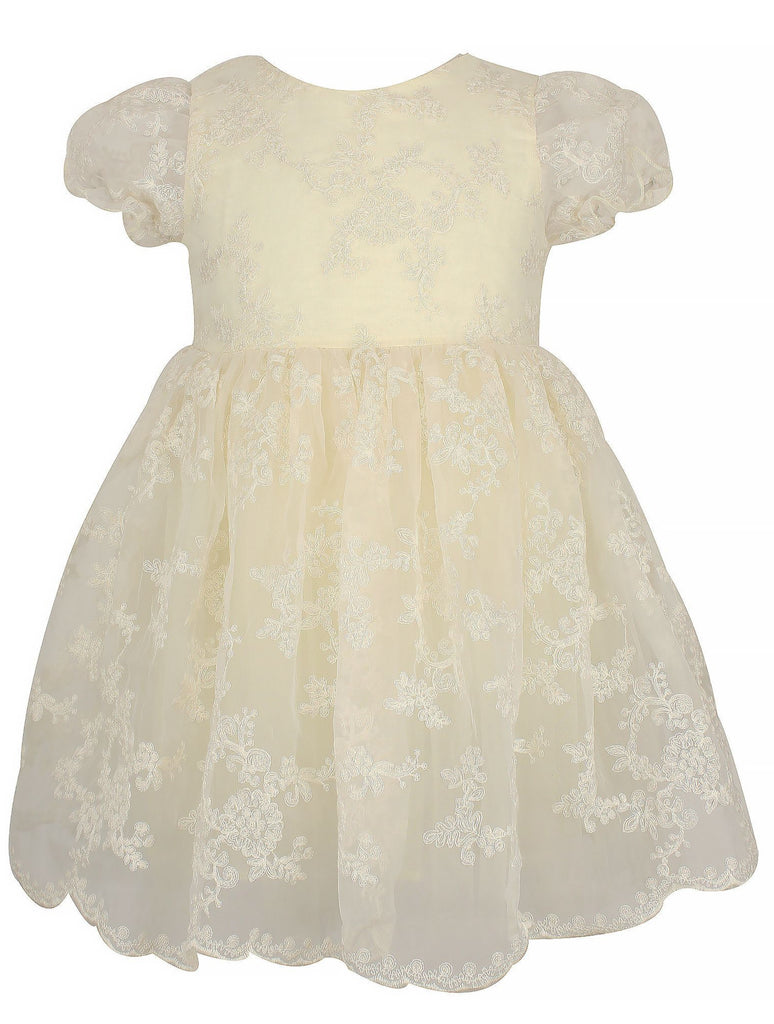 Popatu Elegant Organza Dress - Popatu pageant and easter petti dress
