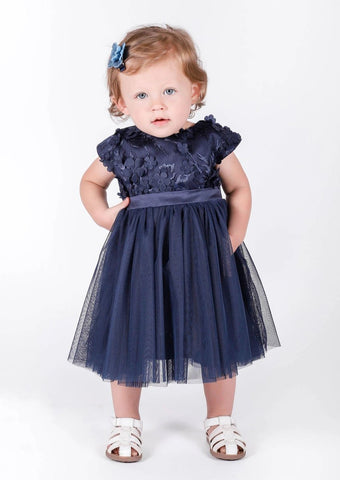Popatu Baby Girls Navy Tulle Dress - Popatu pageant and easter petti dress