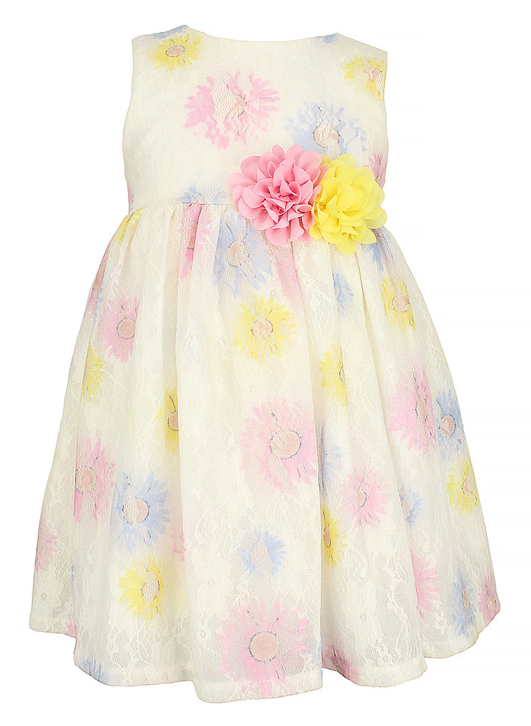 Little Girl's Multi-Color Flower Dress - Popatu pageant and easter petti dress