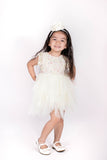 Popatu Little Girls Multi Color Lace Tulle Dress - Popatu pageant and easter petti dress