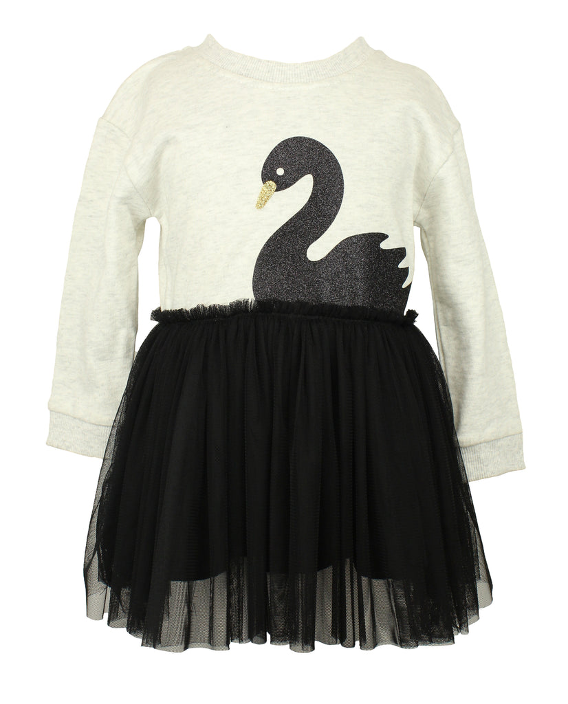 Baby Girl's Sweater Swan Dress