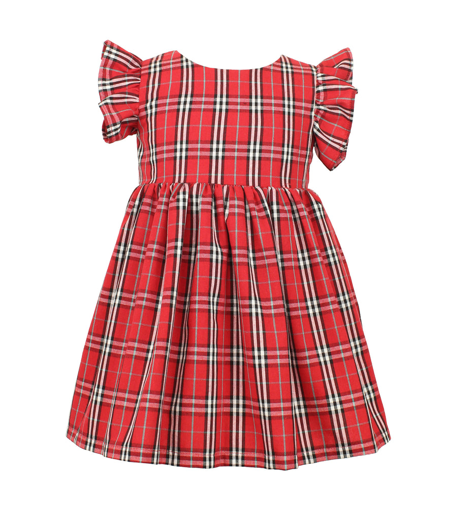 Baby Girl's Red Plaid Dress