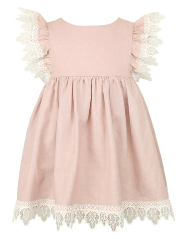 Baby Girl's Flutter Sleeve Dress