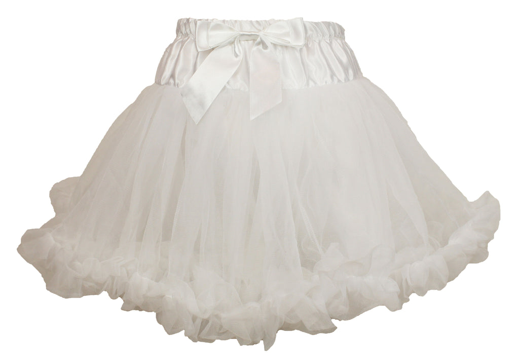 Little Girls White Petti Tutu Skirt