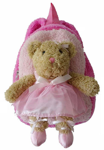 Pink Back pack with Ballerina Bear Plush