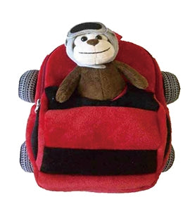Red Firetruck Backpack with Monkey Plush - Popatu pageant and easter petti dress
